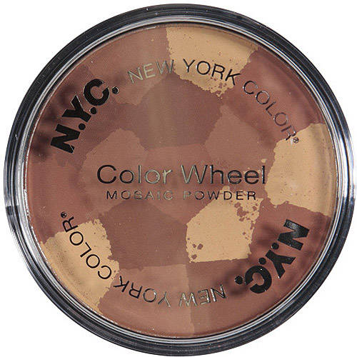 NYC New York Color Color Wheel Mosaic Face Powder, 724A All-Over Bronze Glow, 0.32 oz