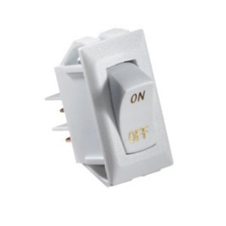 RV Designer Collection S265 White 10 Amp Rocker Switch