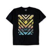 Hang Ten Mens Chevron Palm Tree Graphic T-Shirt