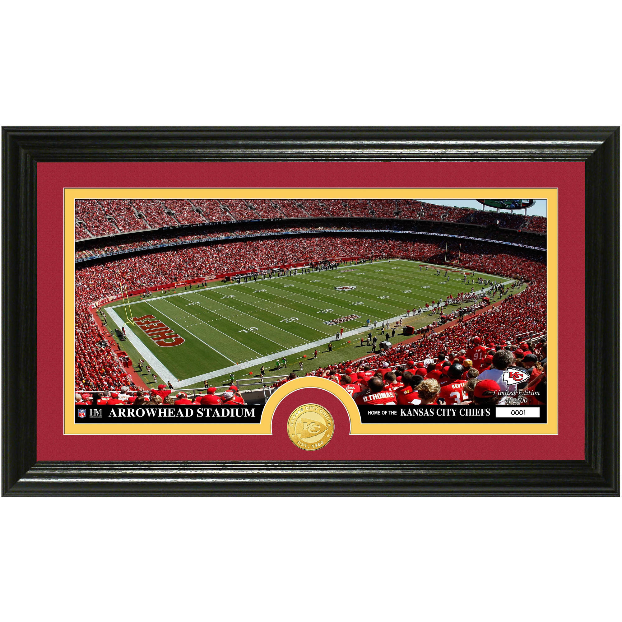 The Highland Mint NFL Stadium Bronze Coin Panoramic Photo Mint, Kansas City Chiefs