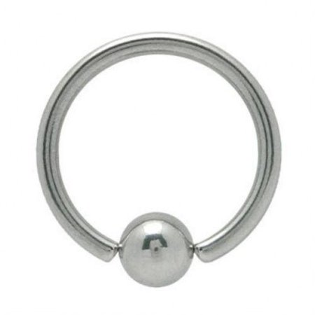 12 Gauge Surgical Steel Captive Bead Ring 16mm 5/8 length 16mm cbr