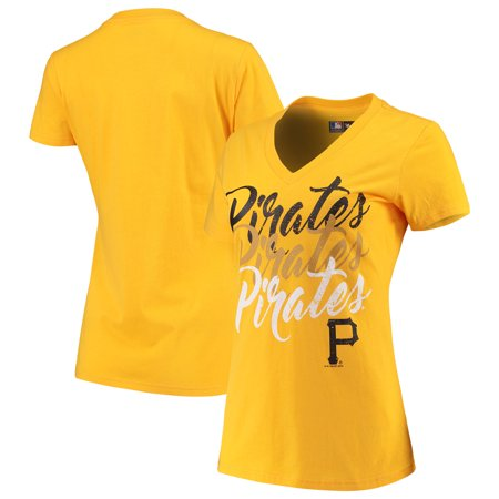 Pittsburgh Pirates G-III 4Her by Carl Banks Women s Game On V-Neck T-Shirt  - Yellow - Walmart.com 098369d0c