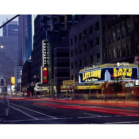 Peel-n-Stick Poster of Marquee Theater Nyc Manhattan Ed Sullivan New York Poster 24x16 Adhesive Sticker Poster Print