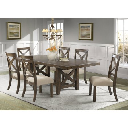 Picket House Francis 7 Piece Cross Back Dining Table Set