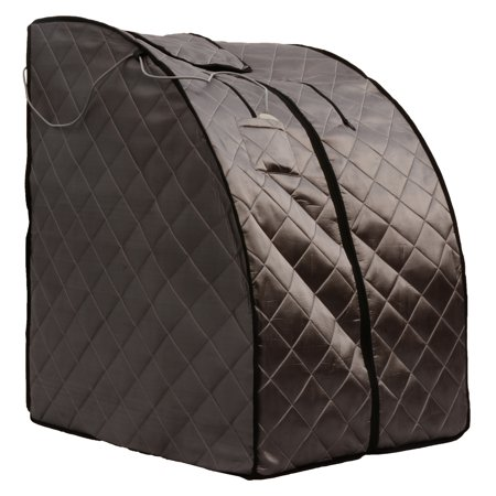 Radiant Saunas Radiant Saunas Rejuvinator Portable Personal Sauna with FAR Infrared Carbon Panels, Heated Floor Pad, Canvas (Jnh Lifestyles 2 Person Far Infrared Sauna)
