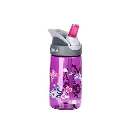 Camelbak Eddy Kids  4L Youth Stem Tube And Shut Off Valve Straw Water Bottle   12 Oz   Hearts