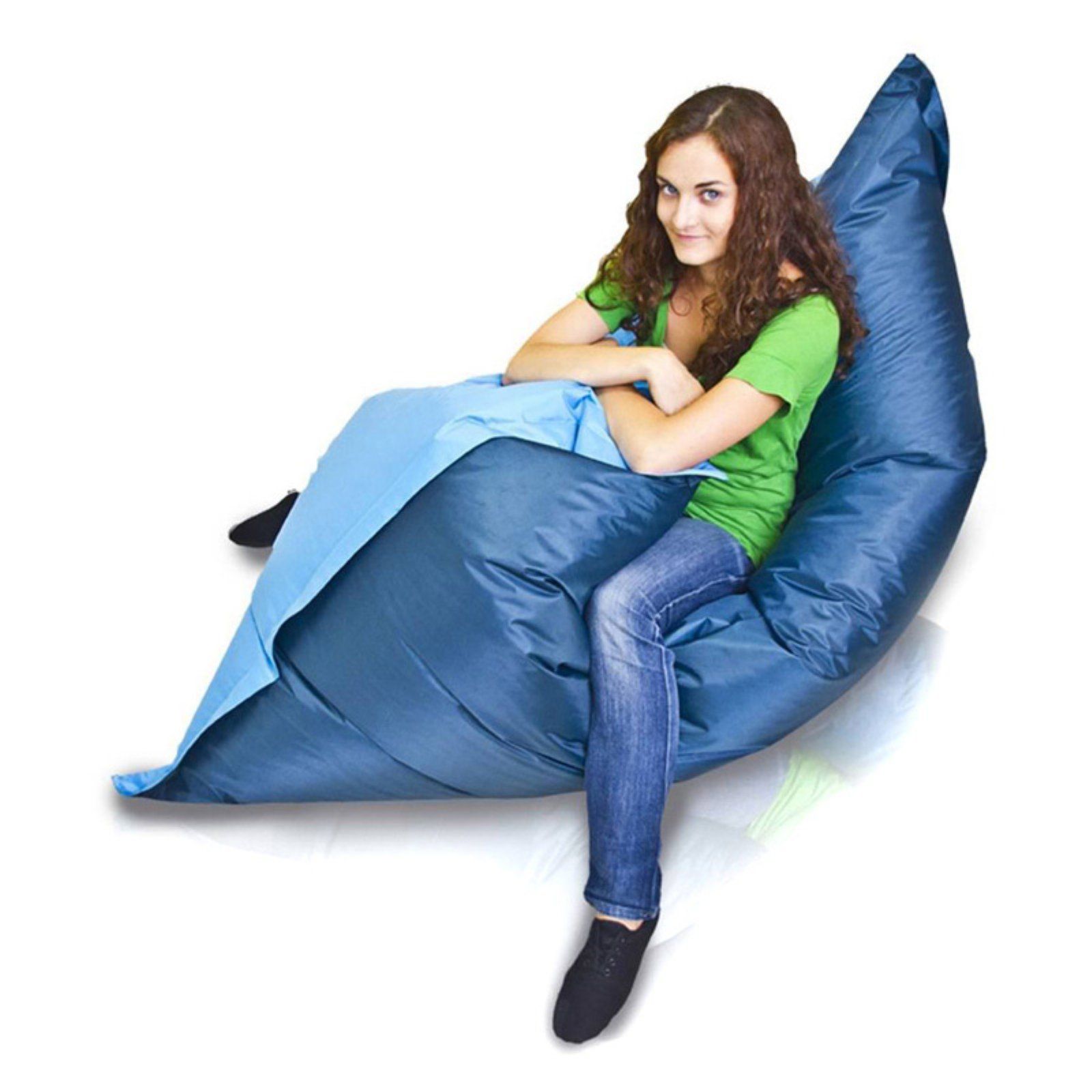Turbo Beanbags Pillow Style Large Bean Bag Chair