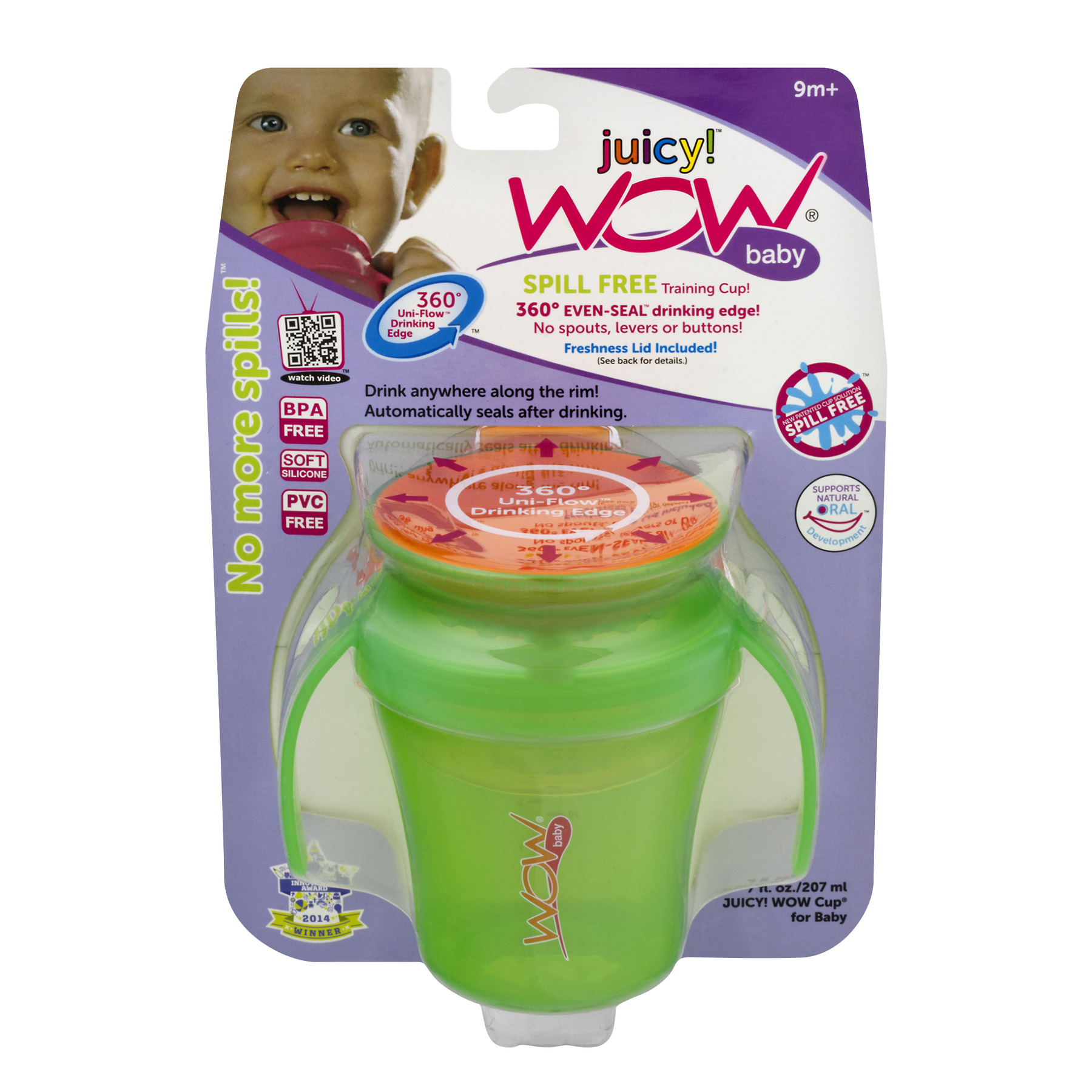 Wow Gear Juicy! Spoutless Sippy Cup