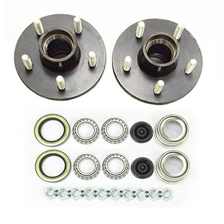 Set of 2 Trailer Idler Hub Kits 5 on 4.5 for 2000 lbs Axle 1-1/16