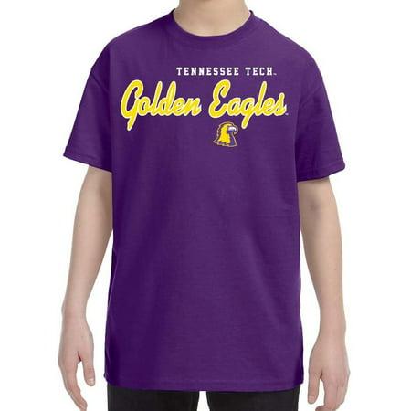 J2 Sport Tennessee Tech Golden Eagles NCAA Machine Script Youth T-shirt