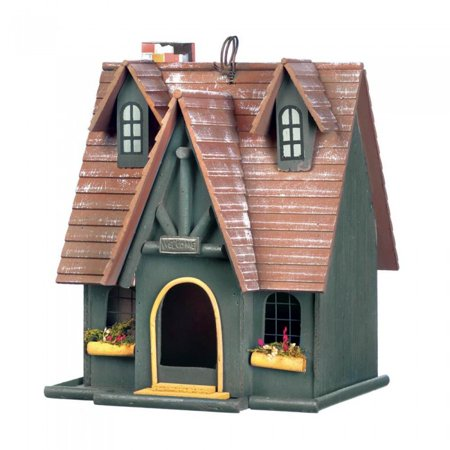 STORYBOOK COTTAGE BIRDHOUSE (Garden Designs Pole Mount Birdhouse)