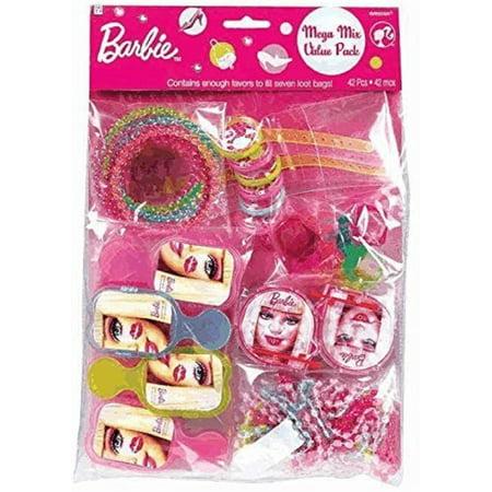 Party Favors - Barbie - Mega Mix Value Pack - 48pc Set - Barbie Party Favors