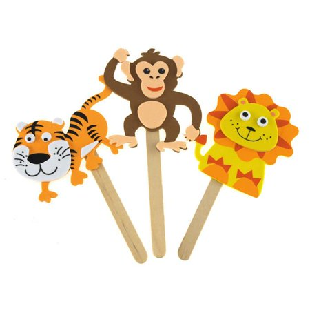 DIY Foam Character Stick Puppets - Jungle Pals (Diy Puppet Theater)