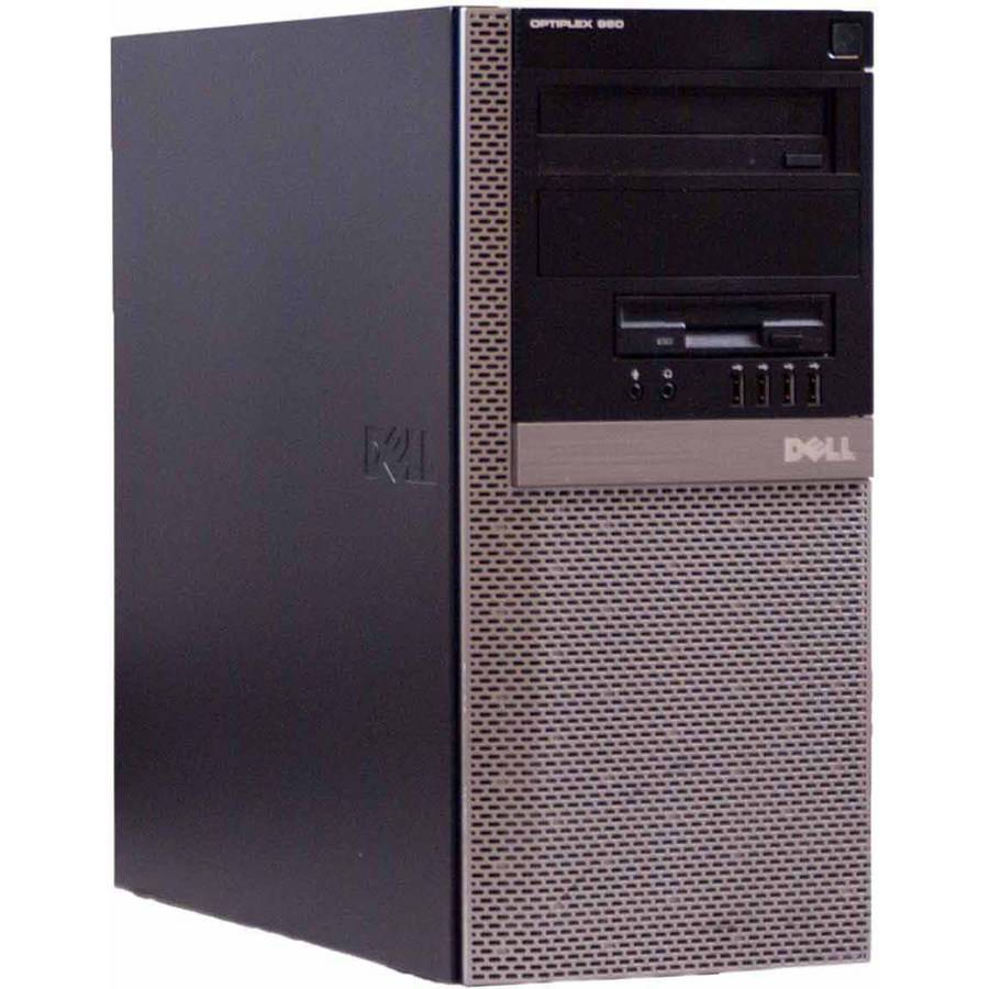 Refurbished Dell Black 960 T Desktop PC with Intel Core 2 Duo Processor, 4GB Memory, 1TB Hard Drive and Windows 7 Professional (Monitor Not Included)