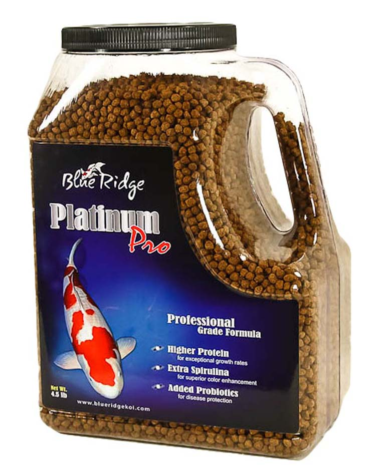 Blue Ridge Platinum Pro Professional Koi & Goldfish Fish Food Pellets by Blue Ridge Koi & Goldfish