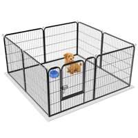 Topeakmart 8 Panel Dog Playpen Puppy Cat Exercise Barrier Fence Black