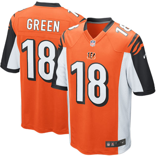 AJ Green Cincinnati Bengals Nike Youth Alternate Game Jersey - Orange