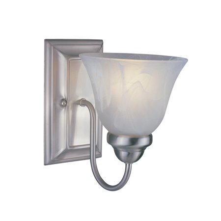 New zlite Product  Lexington Collection 1 Light Wall Sconce in Brushed Nickel Finish Sold by VaasuHomes