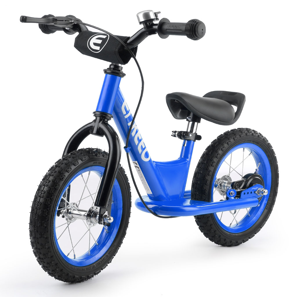 ENKEEO 12'' Sport Balance Bike No Pedal Control Walking Bicycle Transitional Cycling Training,Blue