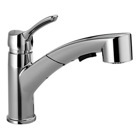 Delta 4140-DST Collins Pull-Out Spray Kitchen Faucet with Optional Escutcheon Plate - Includes Lifetime Warranty