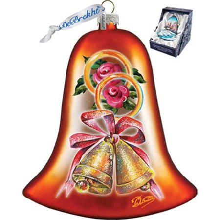 GDeBrekht 752-007 Wedding Bell Glass Ornament