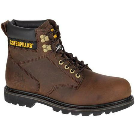 """CAT Footwear Second Shift Steel Toe - Dark Brown 12(W) Second Shift Steel Toe Mens Work Boot"""