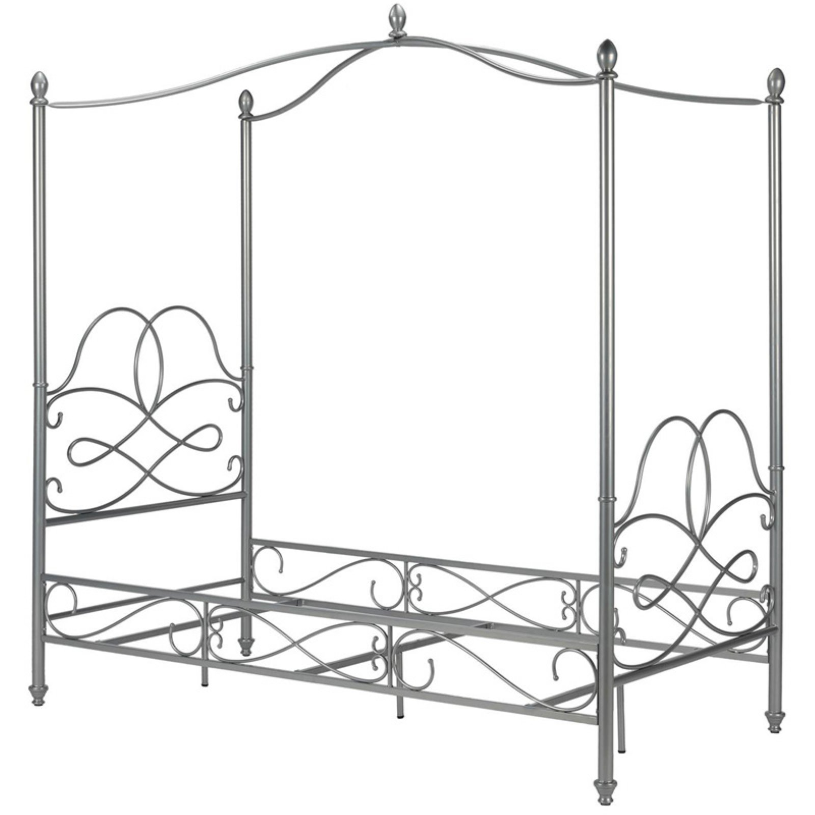 Dorel Home Fancy Metal Canopy Bed, Twin, Multiple Colors Available