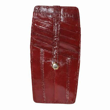- Marshal Snap Two Sided Embossed Eel Leather Credit Card Holder