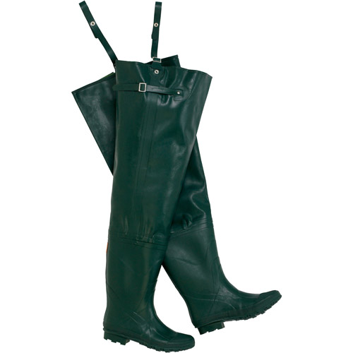 Wenzel Dark Green Rubber Hip Waders Size 9 by Generic