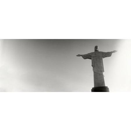 Low angle view of Christ The Redeemer Corcovado Rio de Janeiro Brazil Poster Print