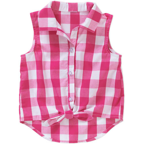 Healthtex Baby Toddler Girl Button Front Sleeveless Fashion Top