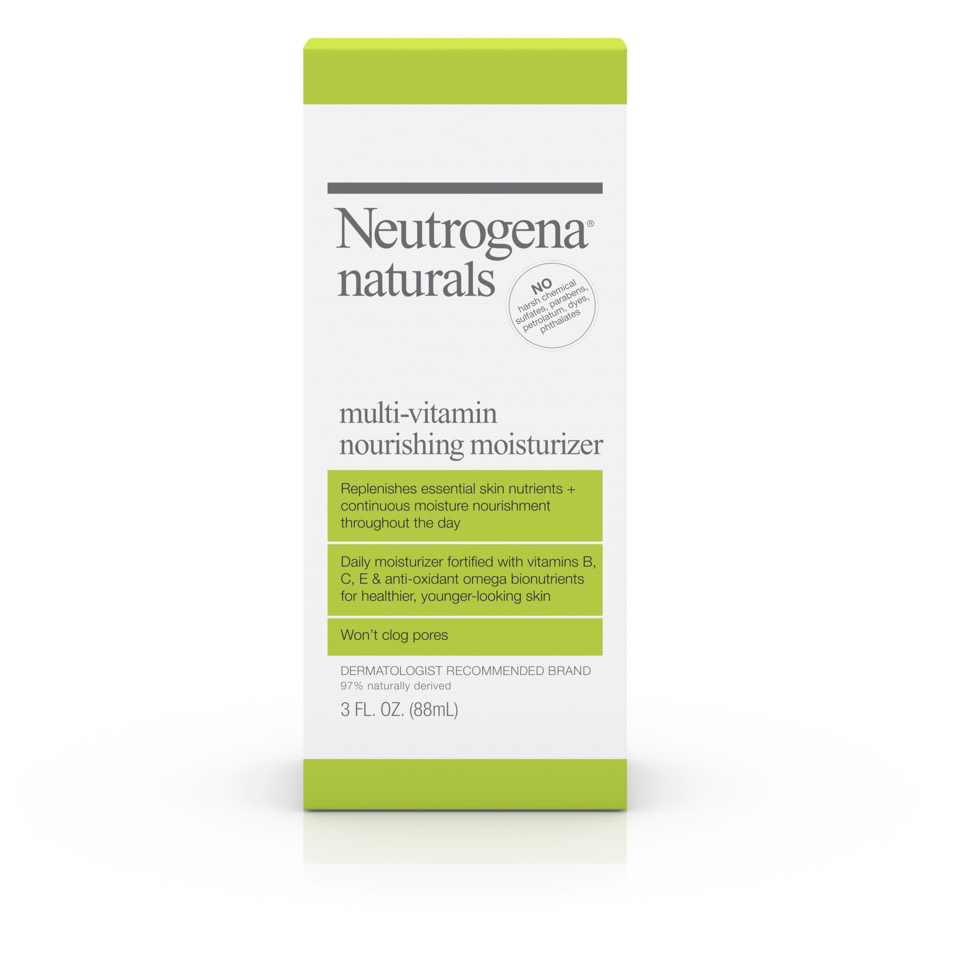 Neutrogena Naturals Multi-Vitamin Nourishing Face Moisturizer, 3 Fl. Oz. - Walmart.com