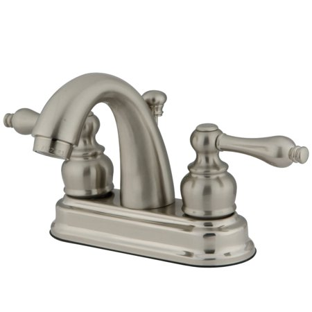 Kingston Brass KB5618AL 4-Inch Centerset Lavatory Faucet, Brushed