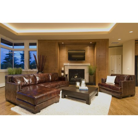 Davis 2 piece top grain leather sectional collection for Affordable furniture 3 piece sectional in wyoming saddle