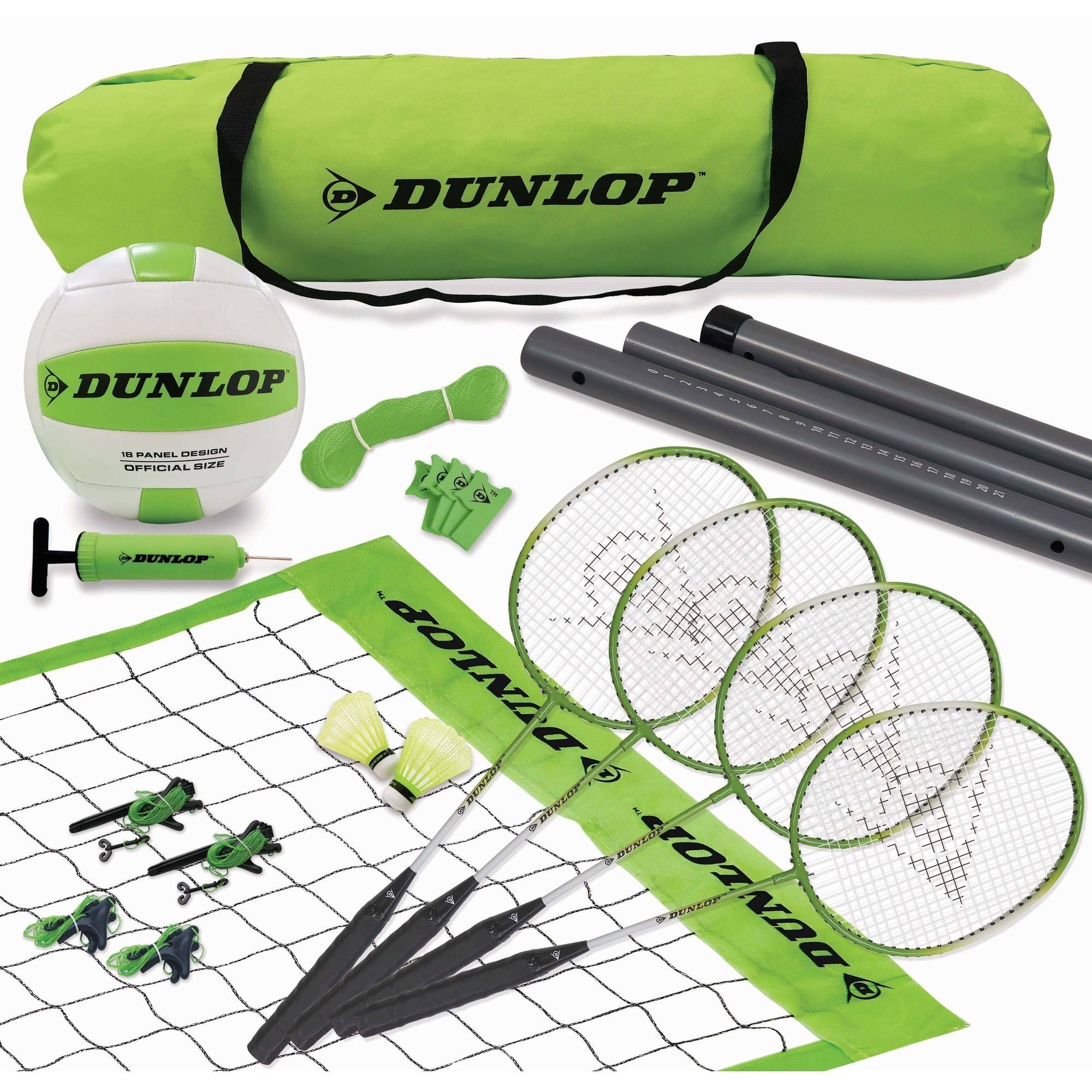 Dunlop Volleyball and Badminton Combo by Medal Sports