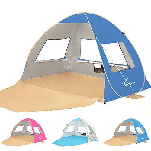 Gorich Large Pop Up Beach Tent Beach Umbrella Automatic Sun Shelter Cabana Ea...