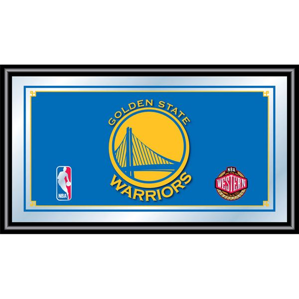 Trademark NBA1500-GSW Framed Mirror With NBA Team Logo, Golden State Warriors