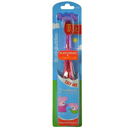 Brite Beatz Lights and Sound Toothbrush, Familiar tunes and a light show encourage kids to spend more time brushing! By Peppa Pig - Halloween Light Show Timer With Sound