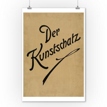 Der Kunstschatz (cover) Vintage Poster Germany c. 1921 (9x12 Art Print, Wall Decor Travel Poster)