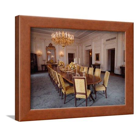 White House State Dining Room Framed Print Wall Art