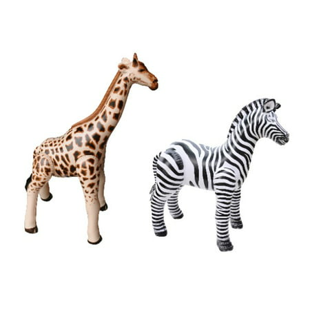 Inflatable Giraffe Zebra Safari Animal Toy Party Gift Kids - Inflatable Animals