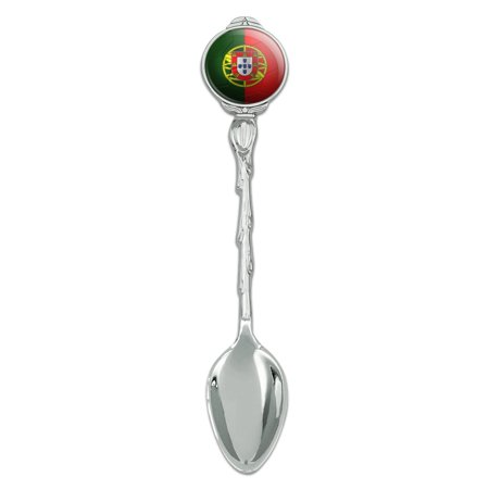 Demitasse Natural (Portugal Flag Soccer Ball Futbol Football Novelty Collectible Demitasse Tea Coffee Spoon )