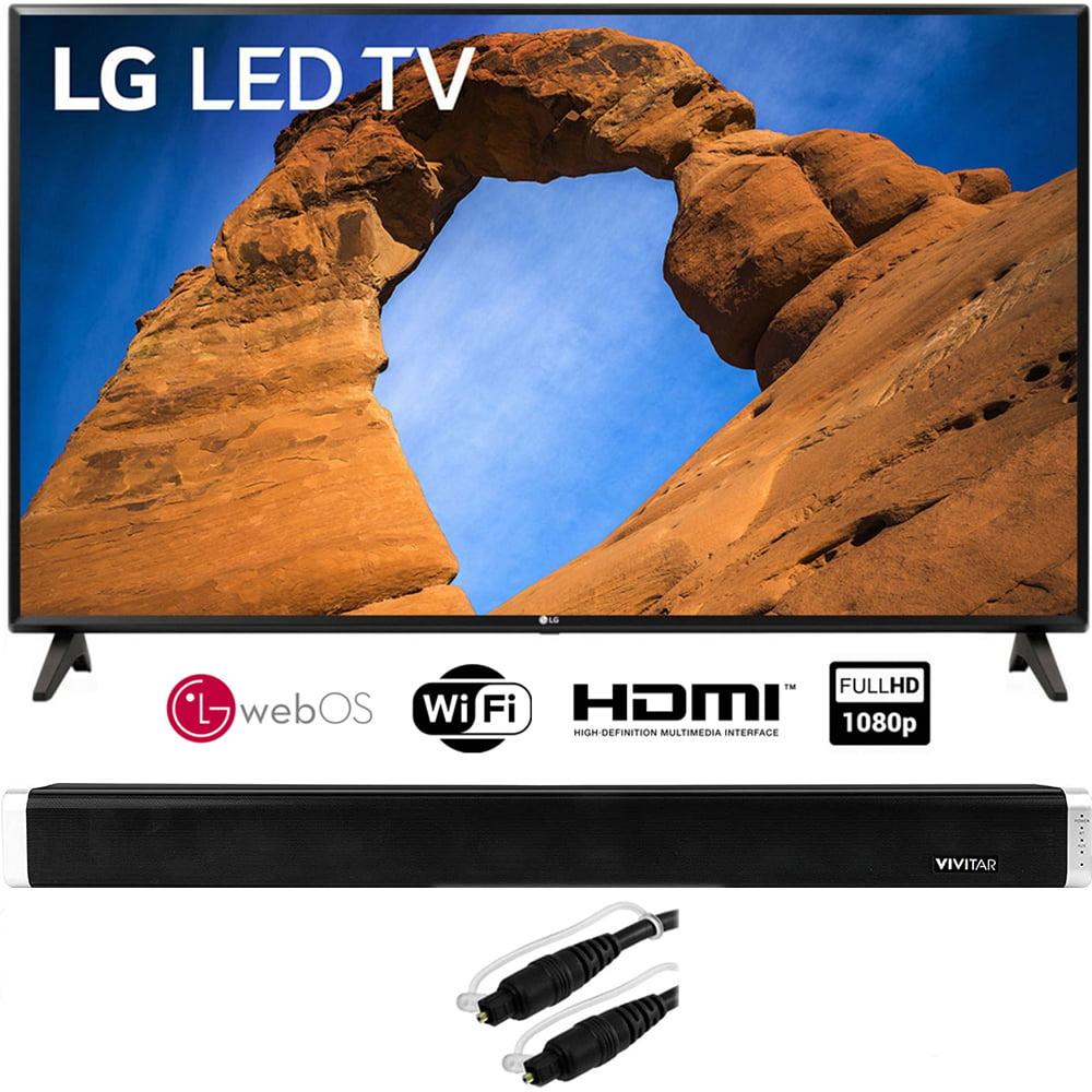 "LG 43LK5700PUA 43""-Class HDR Smart LED Full HD 1080p TV (2018) + Vivitar 24-Inch Wall Mountable Wireless Bluetooth Soundbar + 6ft Optical Toslink 5.0mm OD Audio Cable"