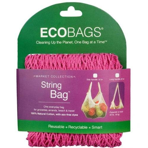 Eco-Bags Market Collection String Bags Tote Handle Fuchsia 1 Bag