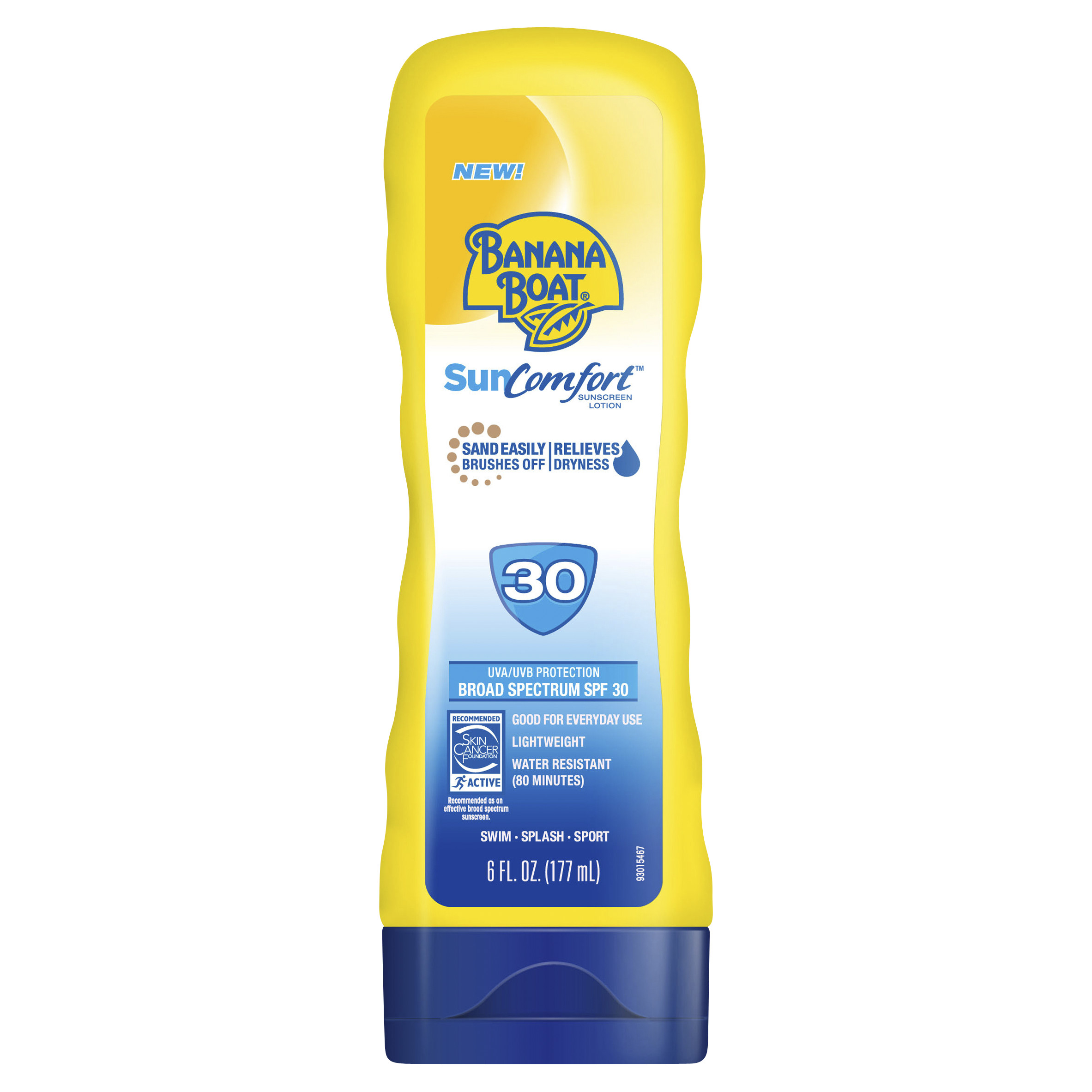 Banana Boat SunComfort Lotion Sunscreen Broad Spectrum SPF 30 - 6 Ounces