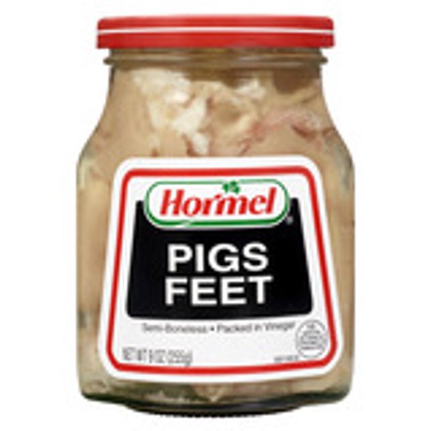 Hormel Jarred Pigs Feet Semi Boneless In Vinegar 9 Oz Walmart Com Walmart Com