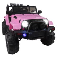 Ktaxon New Kids 12V Ride On Car Truck W/ Remote Control; 3 Speeds; LED Headlights;Spring Suspension - Toy Gift
