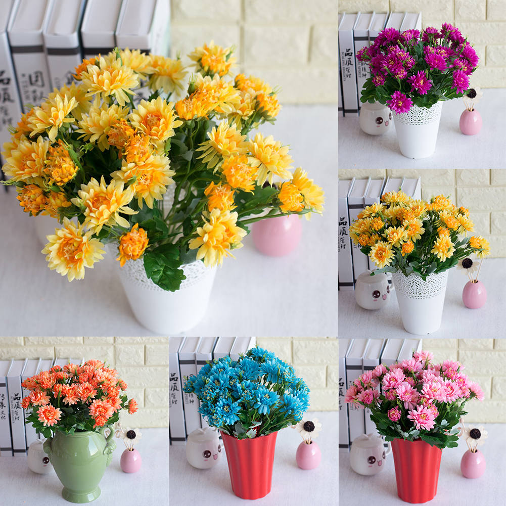 Girl12Queen 1Pc 10 Heads Artificial Chrysanthemum Wedding Party Bridal Bouquet Home Decor