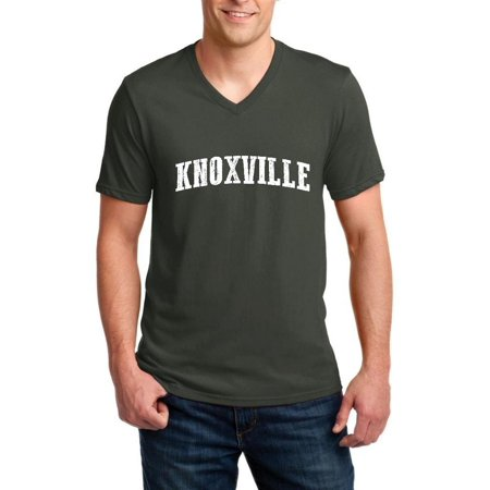 Knoxville in Tennessee Men V-Neck Shirts Ringspun Tee