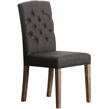 Abbyson Living Jonah Linen Fabric Tufted Dining Chair, Multiple Colors